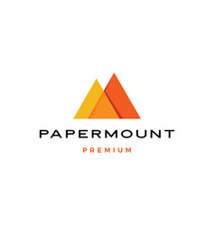 Paper mount mountain papermount m letter logo icon vector