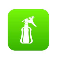 Perfume icon green vector