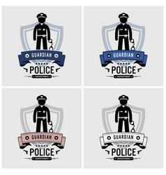 police logo design artwork of officer vector image