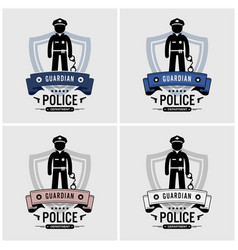 police logo design artwork police officer and vector image