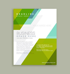 Promotional brochure poster template vector