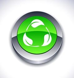 Recycle 3d button vector