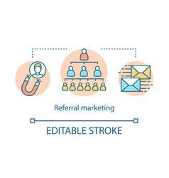 Referral marketing concept icon viral influencer vector