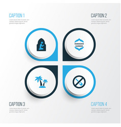 Religion colorful icons set collection of vector