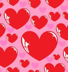 seamless wallpaper heart vector image
