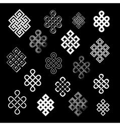 Set collection endless knots palbeu vector
