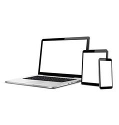 set modern digital devices template vector image