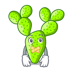Silent cartoon the prickly pear opuntia cactus vector