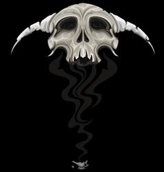 skull genie vector image