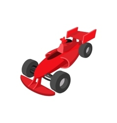 Speeding race car cartoon icon vector