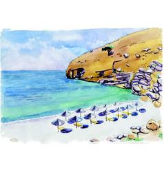 the calm sunny beach vector image
