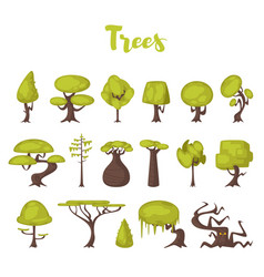 trees for game backgrounds vector image