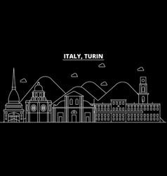 Turin silhouette skyline italy - turin vector