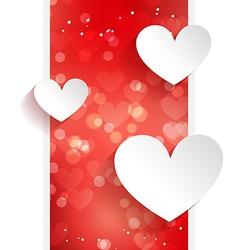 valentine design wth hearts vector image