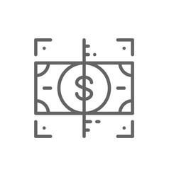 verification money check cash line icon vector image