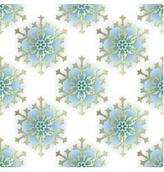 vintage winter seamless pattern vector image