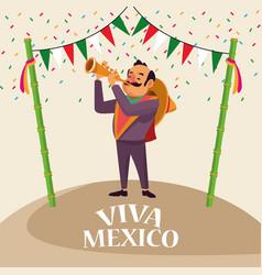 Viva mexico cartoons vector
