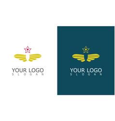 wing star company logo vector image