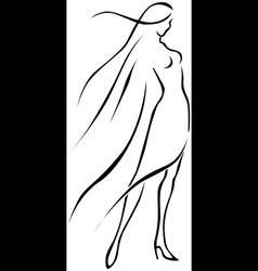 woman siluete vector image