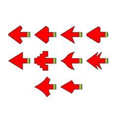arrows a icon set vector image vector image