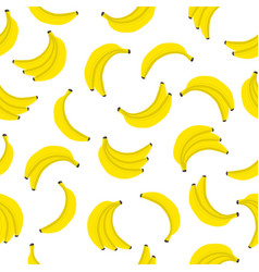 banana seamless pattern bunches of fresh yellow vector image