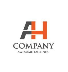 creative letter ah logo vector image vector image