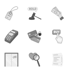 E-commerce set icons in monochrome style Big vector image