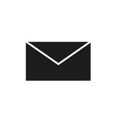 envelope black icon vector image vector image