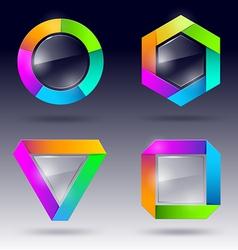 glass design element vector image vector image