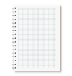 Notebook in a cage with spring vector