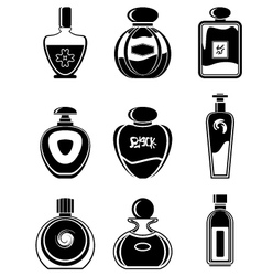 Set of perfumes vector image vector image