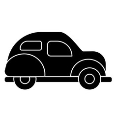 car retro icon black sign on vector image