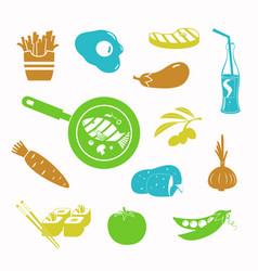 food black icon set vector image vector image
