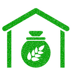 grain storage icon grunge watermark vector image