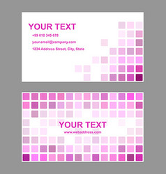 Magenta abstract business card template design vector image vector image