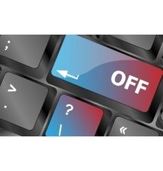 Off word on red keyboard button keyboard keys vector