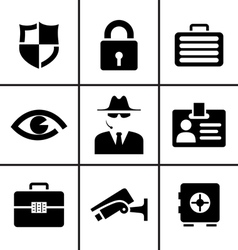 Security and safety icons set vector image vector image