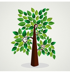 Sketchy green tree vector image vector image