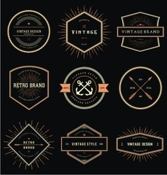 Vintage Style Badge Labels vector image vector image