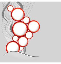 Abstract web design speech bubble vector image