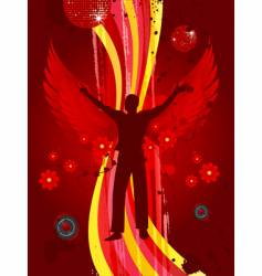 angel of dance vector image vector image