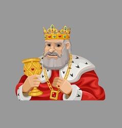 Cartoon king 1 vector image
