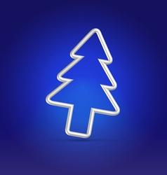 Christmas greetings blue postcard vector image vector image