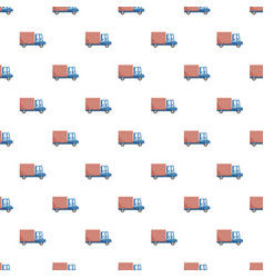 Delivery car pattern vector