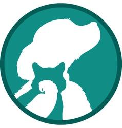 dog cat bird vector image vector image
