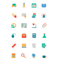 Education Colored Icons 9 vector image vector image