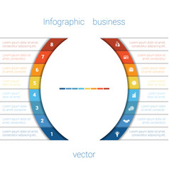 infographic strips and semicircle 8 vector image vector image