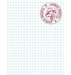 math paper with stamp vector image
