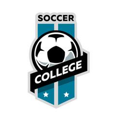 soccer college logo vector image