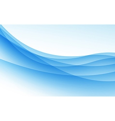 Abstract blue background with wave vector image vector image